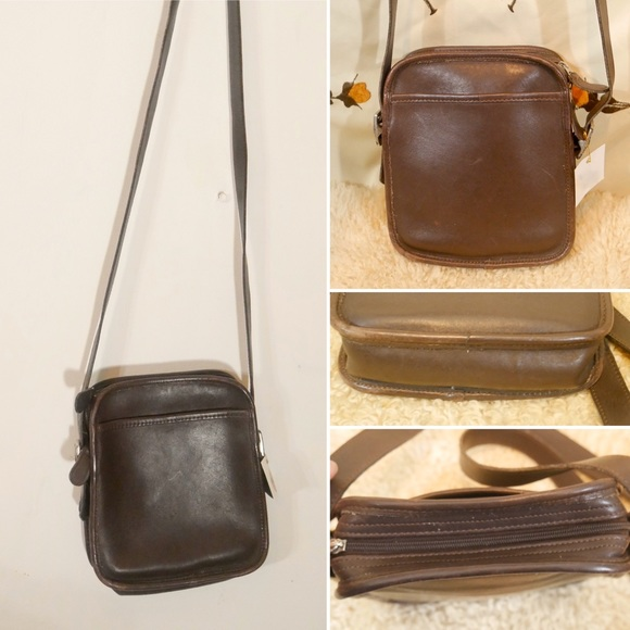 Coach Handbags - Small Vintage Coach Brown Leather Crossbody Bag